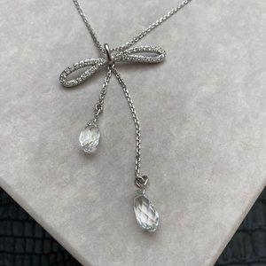 Swarovski Y Bow Lariat Necklace